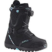 Burton Women's Limelight Boa® Snowboard Boot, Black/Snow Leopard (7.5 B(M) US)