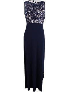 ca1cf64b1a1 Nightway Women s Sleeveless Sequin Lace Sheath Dress at Amazon ...