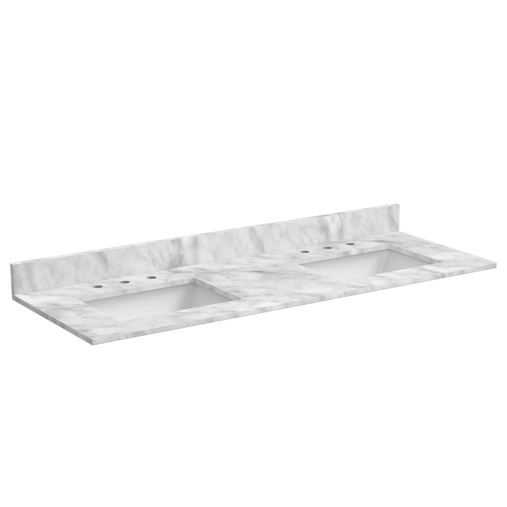 Amazon: Foremost ST61228CWR 61-Inch Marble Vanity Top In Carrara White:  Home Improvement