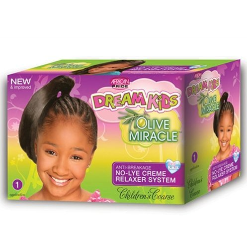 African Pride Dream Kids Olive Miracle No-Lye Creme Relax...