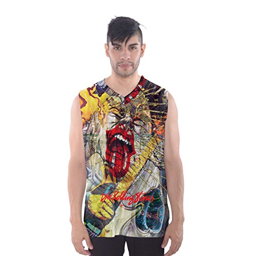 Custom Men's sublimation full 3D print sleeveLess vest basketball tank top shirt (Stone, S) (Stone Illuminati)
