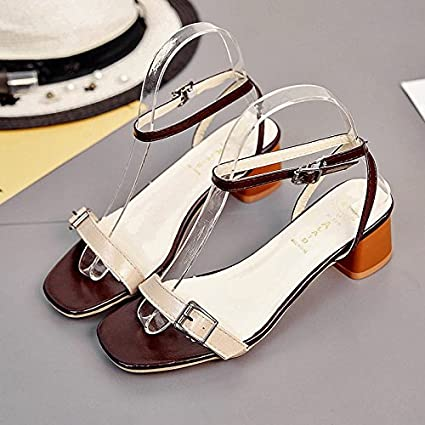 a587d970c8 XY&GK Donna Sandali estivi punta nuda con sandali, donne con semplici  scarpe, 34,