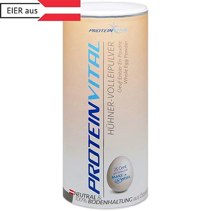 PROTEINVITAL Huevo en polvo - 500g CRÍA EN SUELO - 100% natural de Austria - Neutro y sin ...