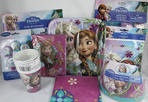 Disney Frozen Assorted Party Supplies Bundle of 10 items by Designware