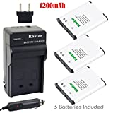 Kastar Battery (3-Pack) and Charger Kit for Nikon EN-EL19, MH-66 work with Nikon Coolpix S32, S100, S2500, S2600, S2700, S2750, S2800, S3100, S3200, S3300, S3400, S3500, S3600, S4100, S4150, S4200, S4300, S4400, S5200, S5300, S6400, S6500, S6600, S6700, S6800 Cameras