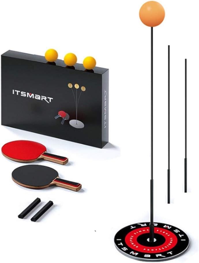 BLMY Equipo de Entrenador de Tenis de Mesa, con Eje elástico de Altura Suave Eje de Rebote Ajustable Equipo de Deporte de descompresión de Ocio Equipo de Tenis de Mesa Individual