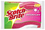 Scotch-Brite Delicate Care Scrub Sponge, 3-Sponges/Pk, 8-Packs (24 Sponges Total)