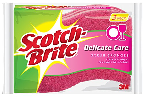 (Scotch-Brite Delicate Care Scrub Sponge, 3-Sponges/Pk, 8-Packs (24 Sponges Total) )