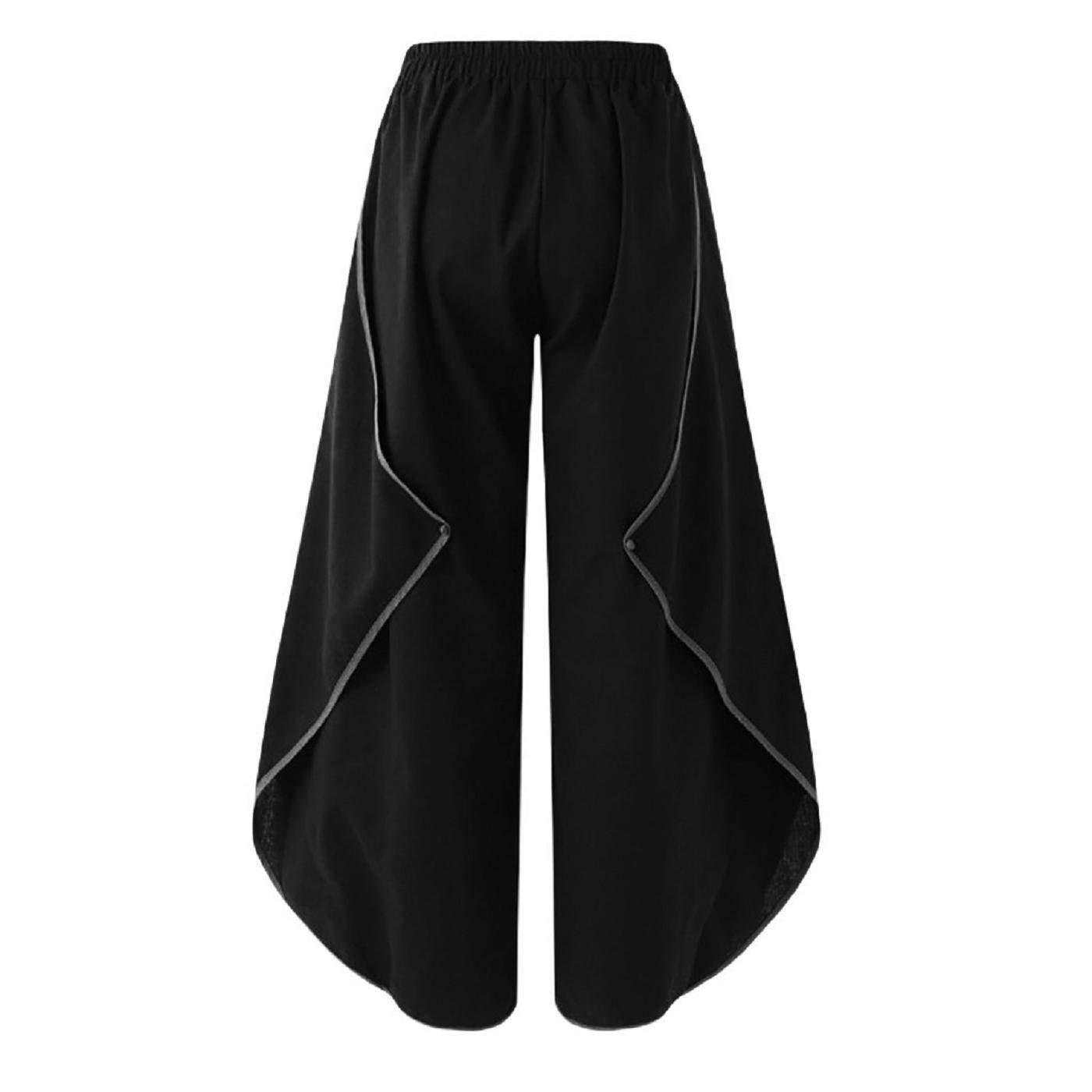 Black L Black L Barlingrock Women Casual Loose Ruffle Wide Leg Pants Sweatpants,Trousers for Work & Casual Wear,Harem Loose Yoga Travel Lounge Festival Beach Pants,Casual Pajama Pants
