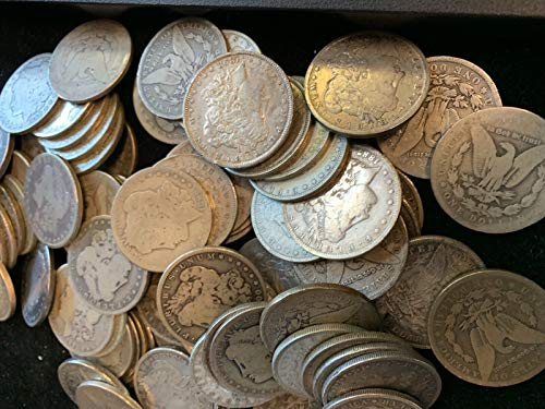 1878 to 1921 Morgan Silver Dollars - Set of 5 Coins - Mixed Dates and Mint Marks - 5 Different Dates - $1 Average Circulated for its Age (1878 Morgan Silver Dollar Coins)