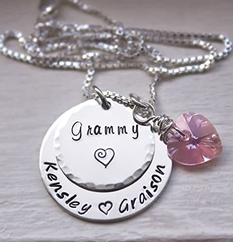 2d68d248d Amazon.com: Custom Personalized Grandma Necklace, Mommy Jewelry ...
