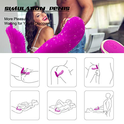 Wearable Butterfly Massaging Toys Wireless Remote Control Document Cameras Silent Soft Skin Friendly Back Neck Shoulder Relaxation 10 Speed Vibrator Masturbators for Women shoes USB Rechargeable by xingshangr (Image #4)