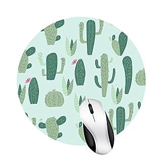 Square Cactus Mouse Pad Non-Slip Rubber Base (round)