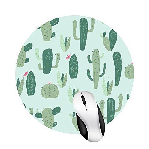 Hand Drawn Watercolor Saguaro Cactus Round mosue pad Gaming Mouse pad Non-Slip Mouse pad