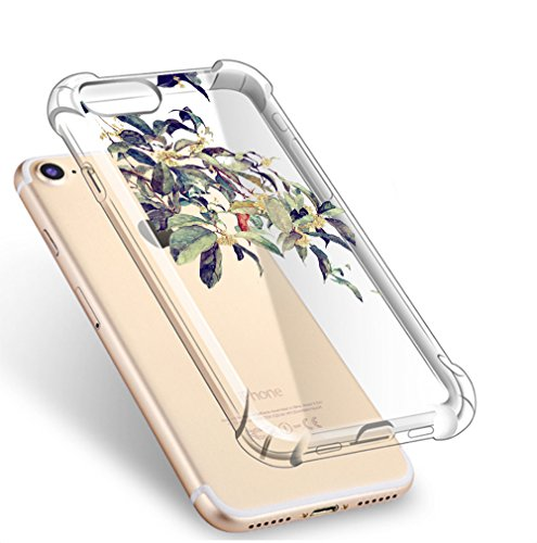 iPhone Custodia Cover 7 iPhone Slim Premium iPhone Crystal 7 Scratch Apple Anti BackCase 01 Gel per 8 Ultra iPhone Trasparente Flessibile Clear 8 TPU Thin Silicone wgdqq5I