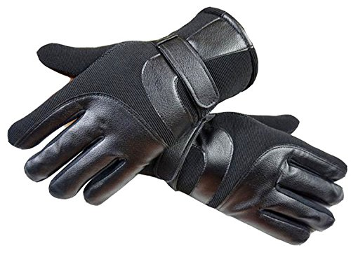 YQXCC Winter Men's Leather Gloves Touch Screen Outdoor Sports Cycling Windproof Warm...