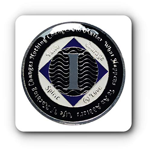 1 Year NA Tri-Plated Recovery Medallion, Narcotics Anonymous Clean Time ()
