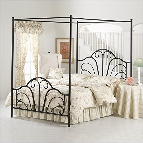 Photo Hillsdale Furniture Hillsdale Dover King Canopy Bed, Textured Black
