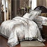 FEFEFEF Three Plain Single Duvet Cover,Double Bedding Sets Flannelette Duvet Cover Set,Sheet Set Double 4 Piece,D,King