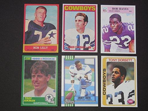 (Dallas Cowboys (6) Card Football Rookie Reprint Lot ** Includes Bob Lilly, Bob Hayes, Roger Staubach, Tony Dorsett, Troy Aikman, and Emmitt Smith**)