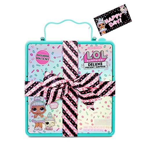 🥇 L.O.L. Surprise! Deluxe Present Surprise with Limited Edition Sprinkles Doll and Pet