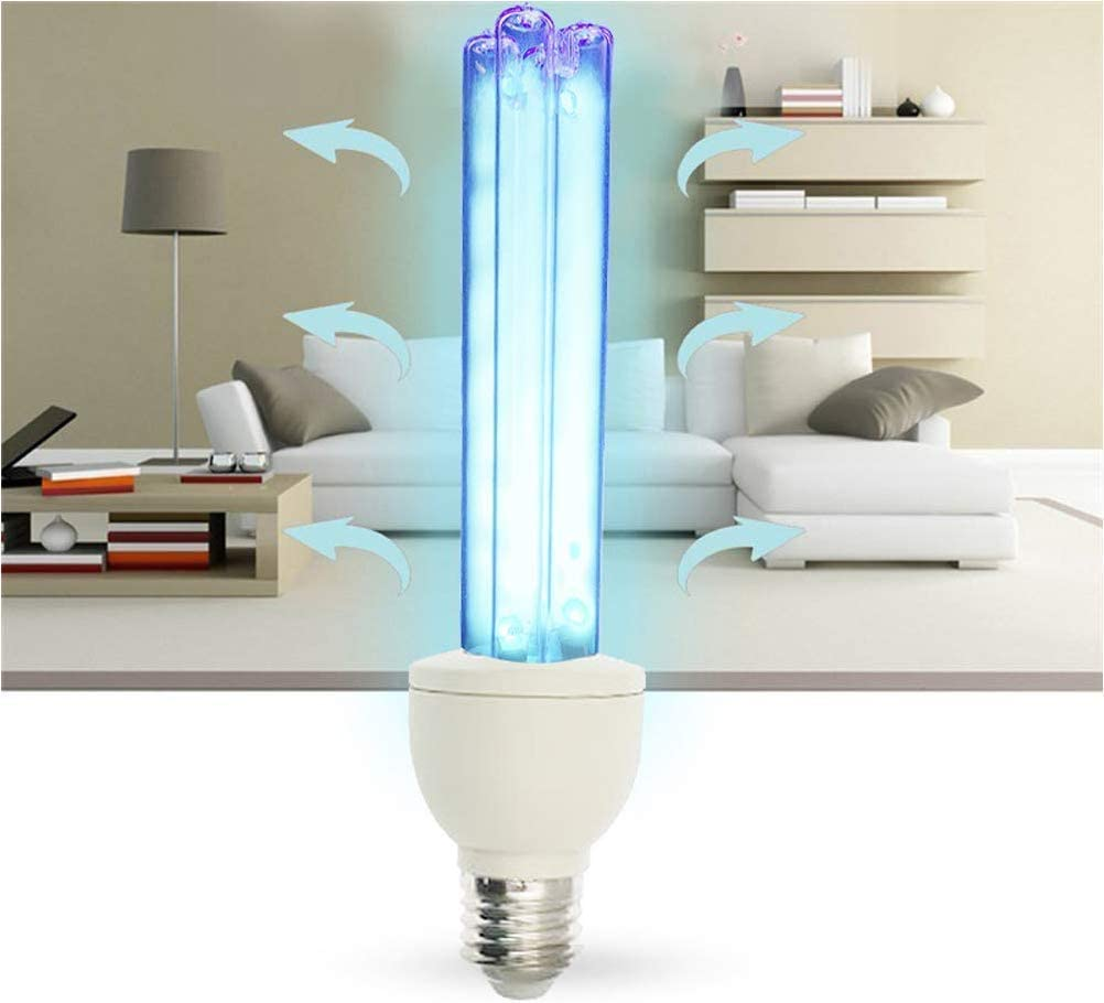 lampada di disinfezione Lampadina germicida UV E27 15w con ozono