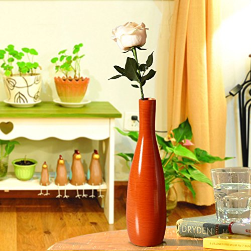 Joveco decorative wood vase modern fashion home decor for Home decor uae