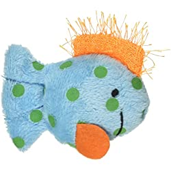 Multipet International Look Who's Talking Cat Toy, Fish, 1-1/4-Inch