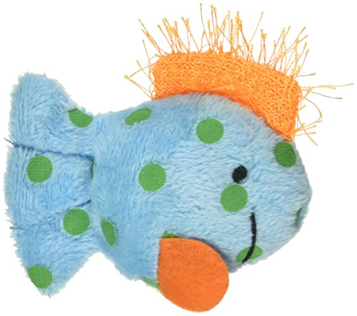 Multipet International Look Who's Talking Cat Toy, Fish, 1-1/4-Inch (International Cat)
