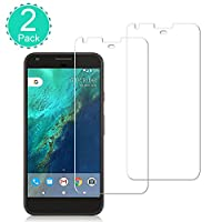 [2 Pack] BBInfinite Google Pixel XL Screen Protector Ultra-Transparent/9H Anti-Scratch/Tempered Glass/2.5D Round/Edge Bubble-Free/Mounting Glass Film Replacement Compatible with Google Pixel 5.0 inch by BBInfinite