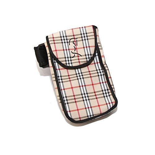 Woofhoof Large Plaid On The Leg Cell Phone Mobile Holder for The Leg/Calf - for Equestrian, Jogger, Hiker or Motorcycle, fits Phone Size 6.5