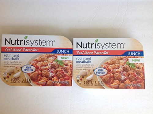 Nutrisystem Rotini and Meatballs Feel Good Favorites Lunch 2 pack