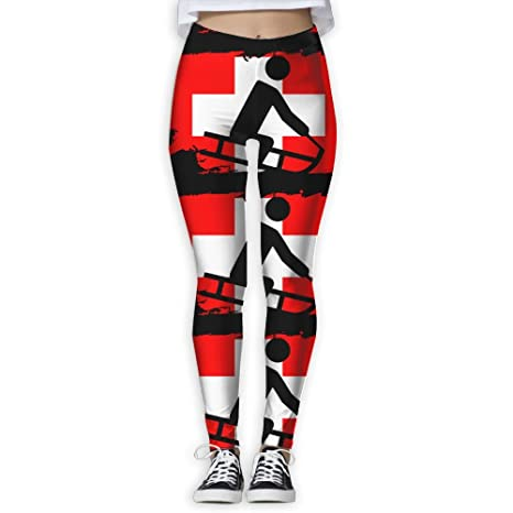 10cb661c09 Sled Swiss Flag Women S Workout Running Gym Tights Leggings High Waist Yoga  Pants