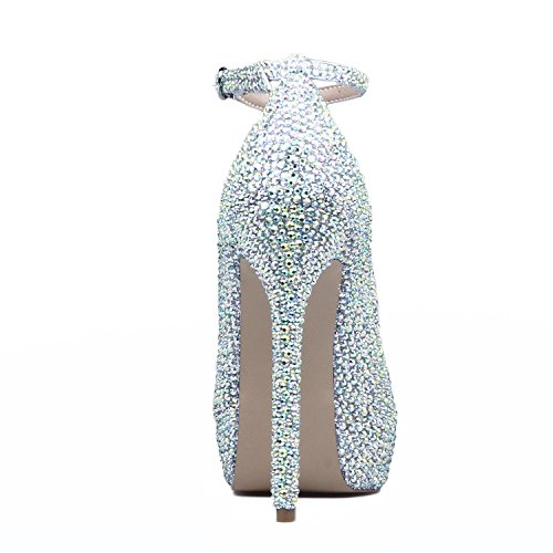 Da L Scarpe Spring For yc Casual heel Comfort Donna Fall Argento High Summer Heels Pu ZwraZEHq