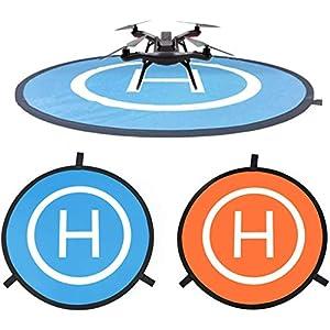 CaLeQi Drone Landing Pad Universale Impermeabile Portatile Pieghevole Landing Pad 55cm/21.65 ''per RC Drone Elicottero, PVB Droni, DJI Mavic PRO Phantom 2/3/4 PRO, Antel Robot, 3DR Solo 3 spesavip