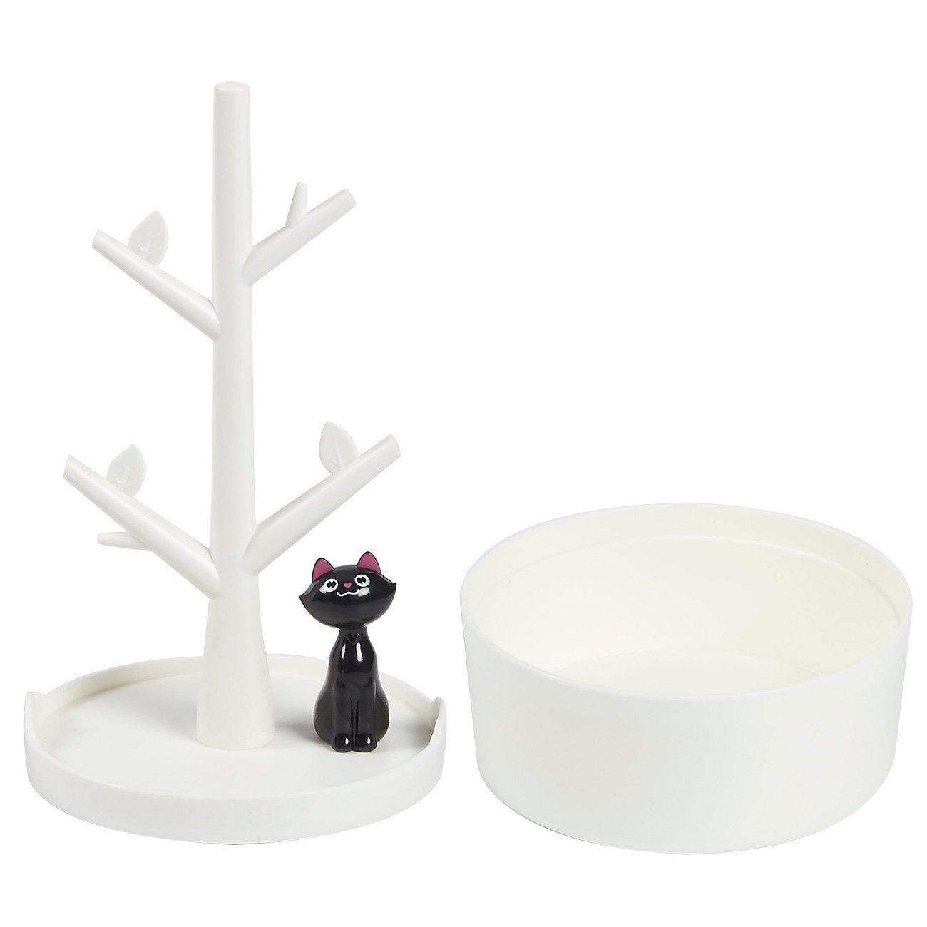 con gattino e albero per collane braccialetti orecchini Fantes elastici per capelli Scatolina portagioielli e organizer