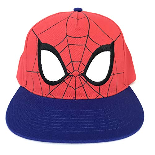 Spider-Man Mask Face Eyes Baseball Cap Hat Adults Red Blue ()