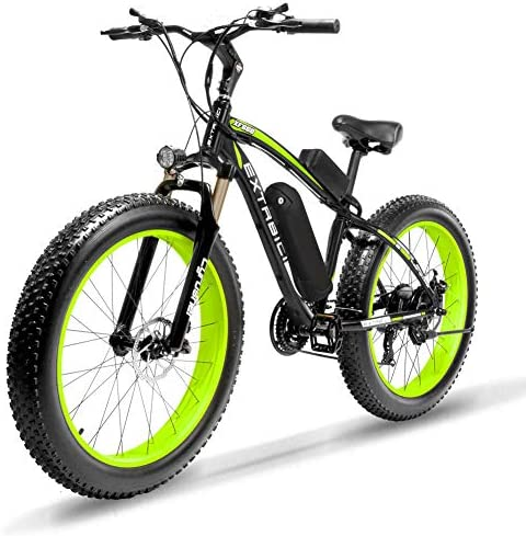 Cyrusher XF800 1000W 48V 4inch Fat Tire Electric Bike Beach Snow Bicycle Full Suspension Hydraulic Brakes ebike for Adults