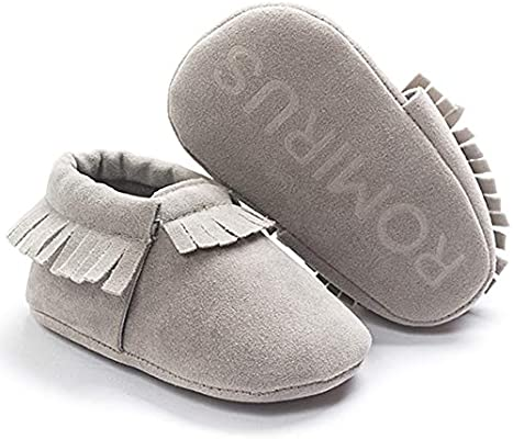 Baby Soft Sole suede//Leather Shoes Infant Boy Girl Toddler Moccasin Newborn