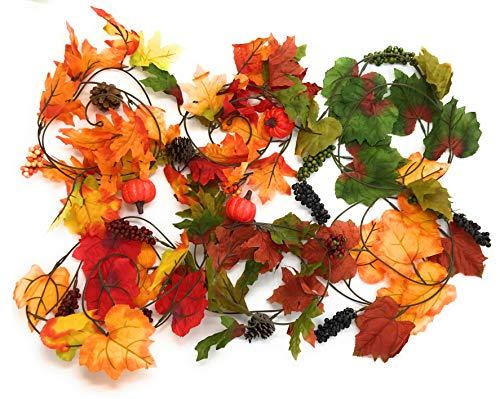 vest Maple and Oak Leaf 4 ft Garlands - Pack of 6 ()