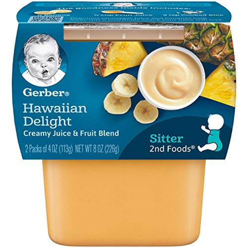 Gerber 2nd Foods Hawaiian Delight Dessert, 2-Count, 3.5-Ounce Tubs (Pack of - Baby Food Dessert