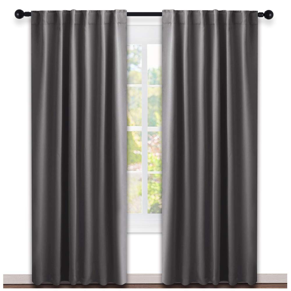 Etonnant NICETOWN Blackout Curtain Panels Window Draperies   (Grey Color) 52x84  Inch, 2 Pieces, Insulating Room Darkening Blackout Drapes For Bedroom