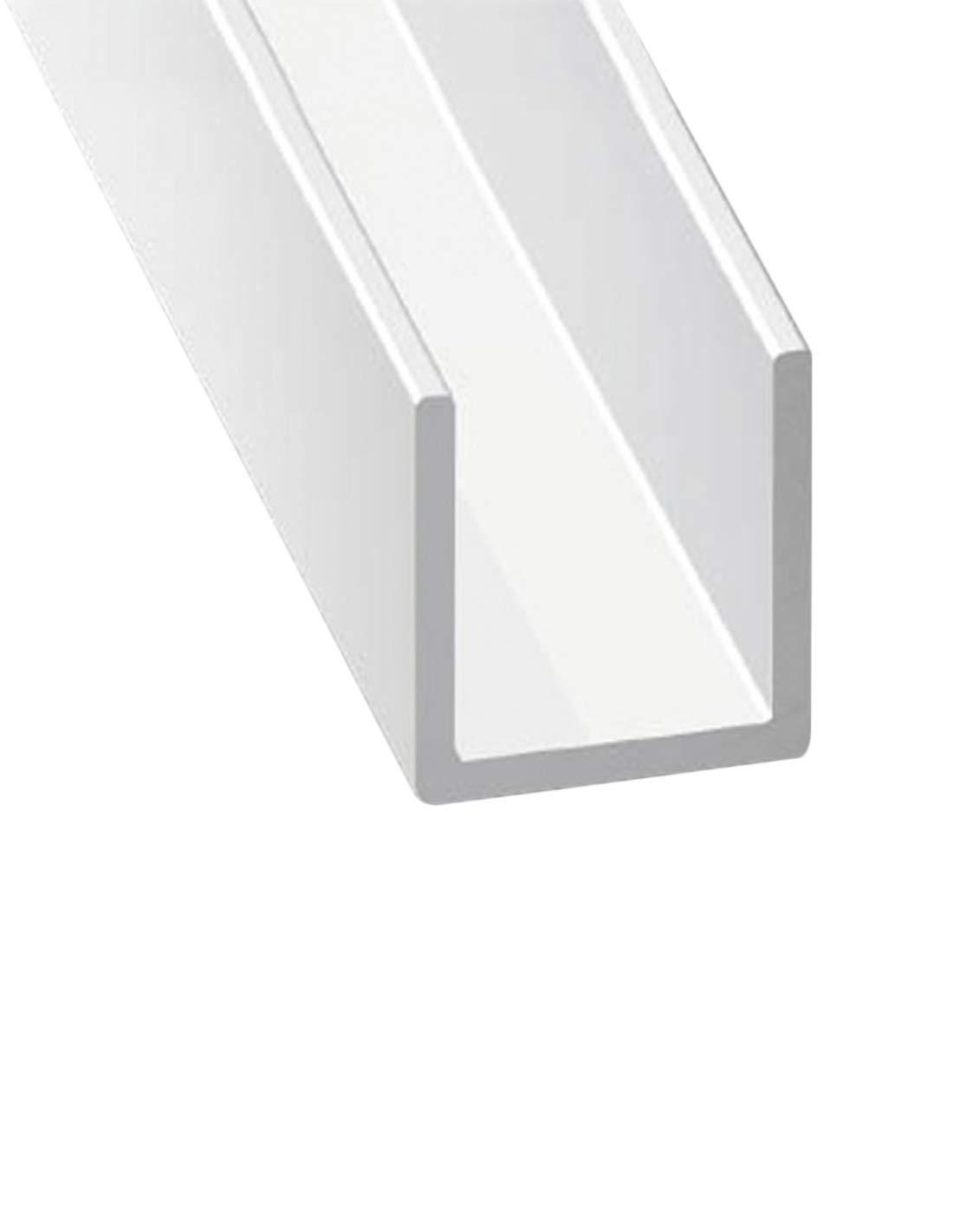 210m Jardin202 Perfil de Aluminio Blanco en U x3 unds