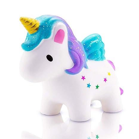 Etitular Squishy Unicornio,Squishys Kawaii Slow Rising para Niños Y Adultos Squishys Kawaii Juguetes Antiestres