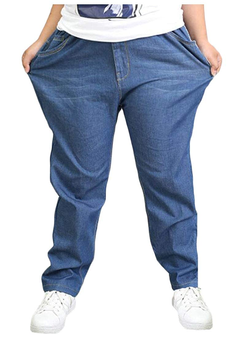 Pandapang Big Boys Jeans Cute Classic-fit Denim Solid Pants