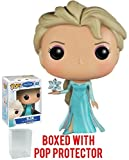 frozen elsa head - Funko Pop! Disney: Frozen - Elsa #82 Vinyl Figure (Bundled with Pop Box Protector Case)