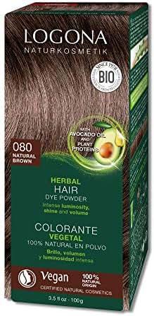 Logona Herbal Hair Dye Natural Brown Natural Vegan Plant Based 3.5 Ounce