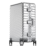 Enkloze KLASIK Aluminum Carry-On Suitcase - Spinner 100% Aluminum TSA Approved (Carry On - 20'', Silver)