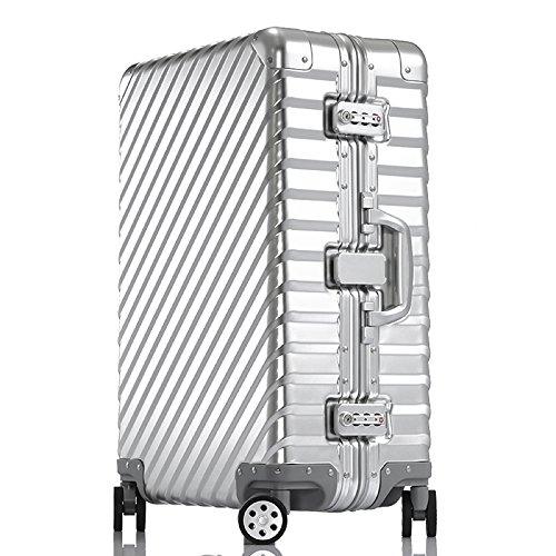 Enkloze KLASIK Aluminum Carry-On Suitcase - Spinner 100% Aluminum TSA Approved (Carry On - 20'', Silver) by Enkloze