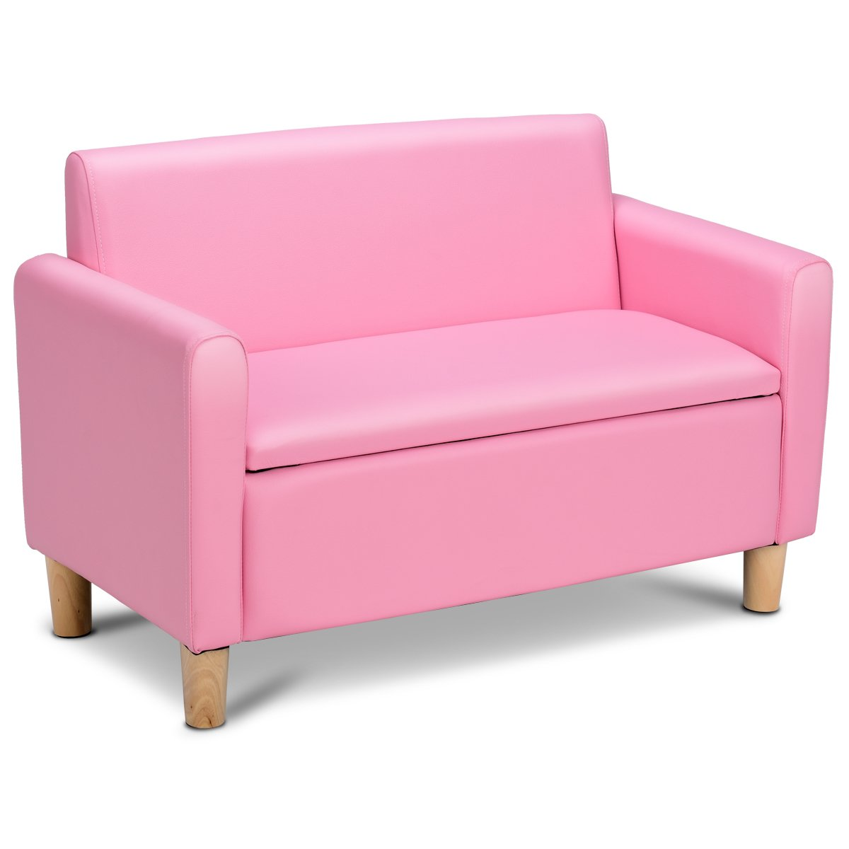 COSTWAY Kindersessel Sessel Sofa Kindersofa Kindercouch Babysessel Kindermöbel 80x41x53cm (Rosa)